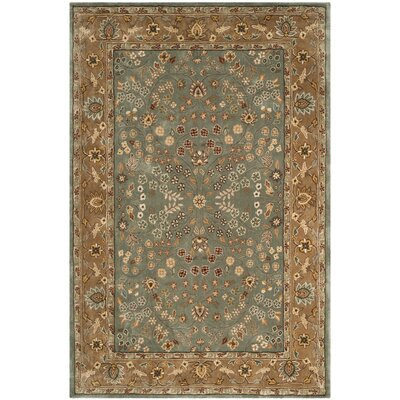 Regner Hand-Hooked Sage/Copper Area Rug Rug Size: Rectangle 9 x 12
