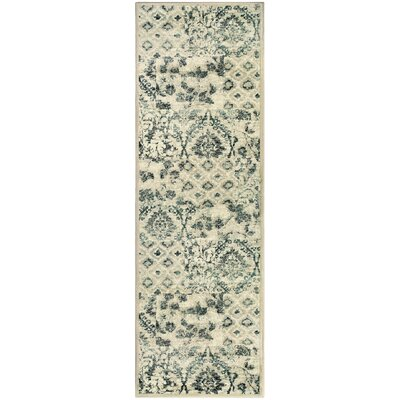 Draeger Ivory Area Rug Size: Runner 28 x 8