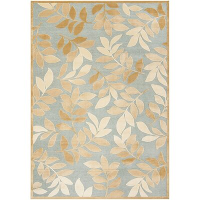Sorensen Leafy Glade Geyser/Gold Area Rug Rug Size: Rectangle 8 x 112