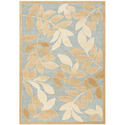 Sorensen Leafy Glade Geyser/Gold Area Rug Rug Size: Rectangle 4 x 57