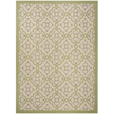 Sorensen Beige/Sweet Pea Area Rug Rug Size: Rectangle 4 x 57