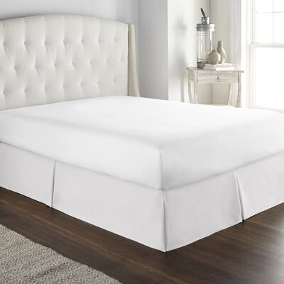 Pelham Tailored 1800 Thread Count Bed Skirt Size: Queen, Color: White