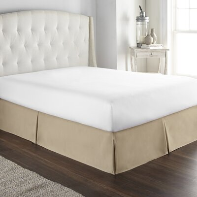 Pelham Tailored 1800 Thread Count Bed Skirt Size: Queen, Color: Taupe