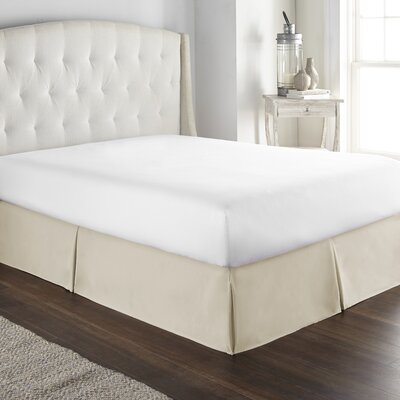 Pelham Tailored 1800 Thread Count Bed Skirt Size: Queen, Color: Cream