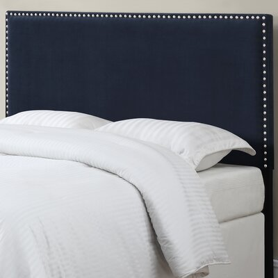 Lambert Upholstered Panel Headboard Size: Full / Queen, Upholstery: Navy Blue