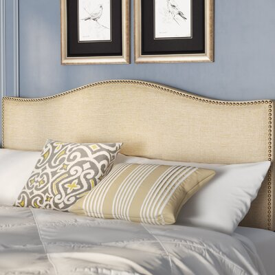 Bransford Curl Upholstered Headboard Size: Queen, Upholstery: Cafe