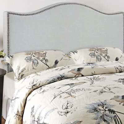 Bransford Curl Upholstered Headboard Size: King, Upholstery: Gray