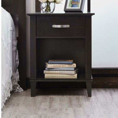 Myles 1 Drawer Nightstand Color: Espresso