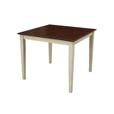 Frost Square Dining Table Finish: Espresso / Antique Almond, Size: 36