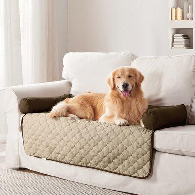 Weymouth Box Cushion Sofa Slipcover Color: Garnet/Natural, Size: Large