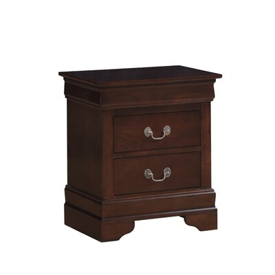 Oldbury 2 Drawer Nightstand Color: Cappucino