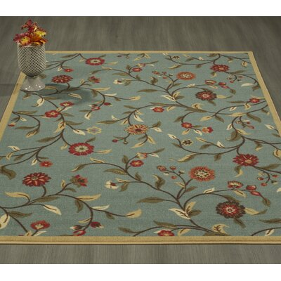 Bunyard Seafoam/Red Area Rug Rug Size: Rectangle 3'3