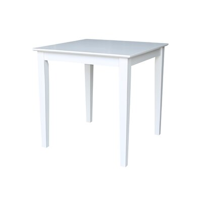 Frost Square Dining Table Finish: White, Size: 30