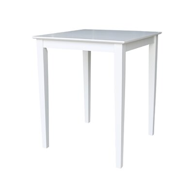 Geneseo Counter Height Pub Table Color: White, Tabletop Size: 30