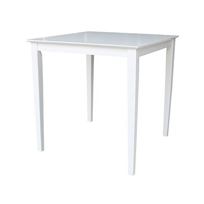 Geneseo Counter Height Pub Table Color: White, Tabletop Size: 36