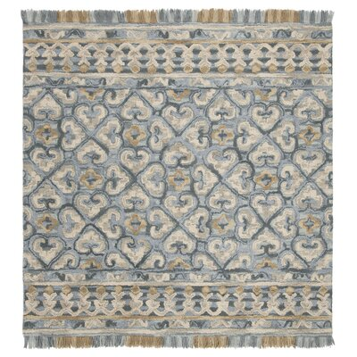 Bradwood Hand-Tufted Light Beige Area Rug Rug Size: Square 6