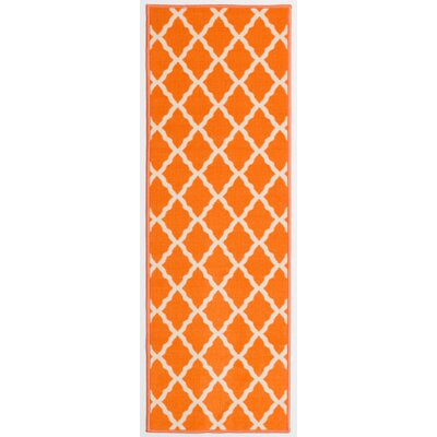 Staunton Orange Area Rug Rug Size: Runner 22 x 6