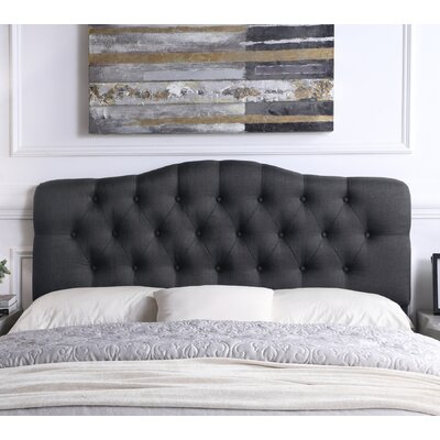 Charlottesville Upholstered Panel Headboard Size: King, Color: Charcoal
