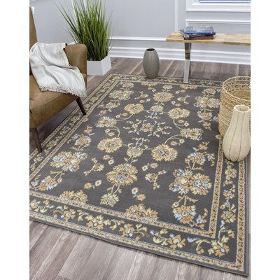 Brickstone Gray Area Rug Rug Size: Rectangle 5 x 7