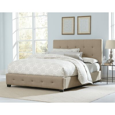 Haynesville Upholstered Panel Bed Size: King, Color: Buckwheat