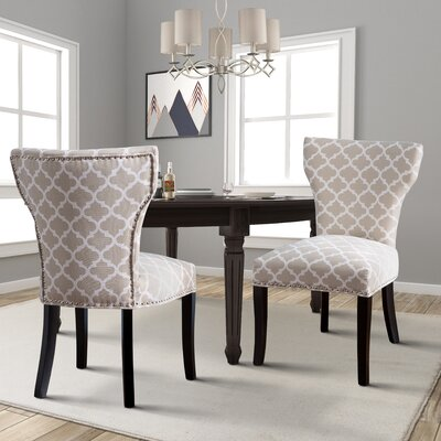 Almondsbury Upholstered Dining Chair Upholstery: Beige
