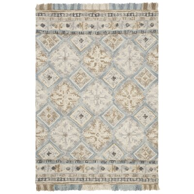 Bradwood Hand-Tufted Beige Area Rug Rug Size: Rectangle 4 x 6