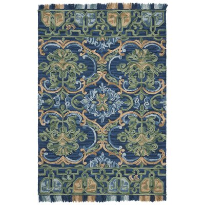 Bradwood Hand-Tufted Navy Area Rug Rug Size: Rectangle 4 x 6