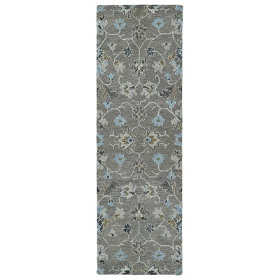 Casper Gray Tufted Wool Area Rug Rug Size: Runner 26 x 8