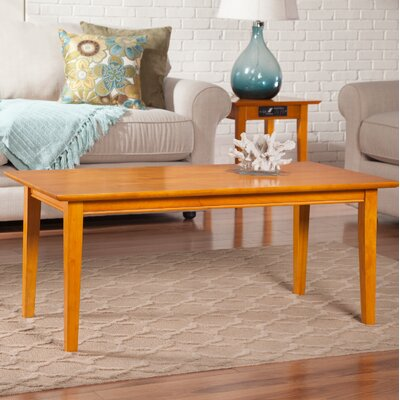 Oliver Coffee Table Color: Caramel Latte