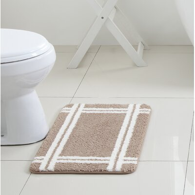 Brewster Bath Rug Color: Taupe