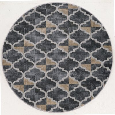 Norwich Gray Area Rug Rug Size: Round 53