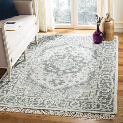 Carman Hand-Tufted Wool Gray Area Rug Rug Size: Rectangle 4 x 6