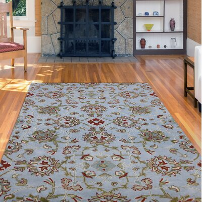 Bessie Hand-Tufted Blue/Green Area Rug Rug Size: Rectangle 76 x 96