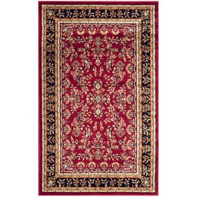 Ottis Lianne Red Area Rug Rug Size: Rectangle 33 x 53