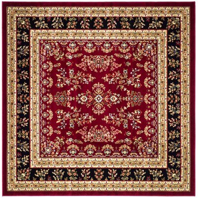 Ottis Lianne Red Area Rug Rug Size: Square 8
