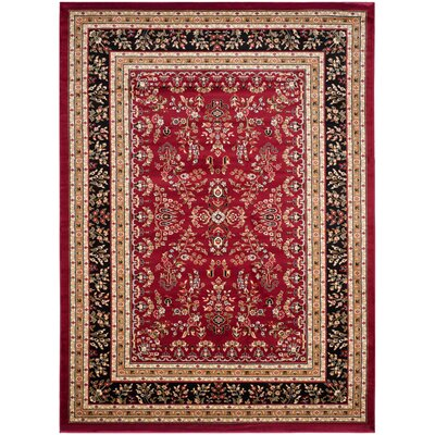 Ottis Lianne Red Area Rug Rug Size: Rectangle 6' X 9'