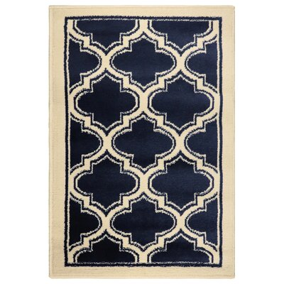 Stroudsburg Trellis Navy Blue Area Rug Rug Size: Rectangle 2 x 3