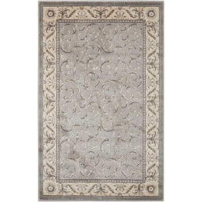 Roscoe Silver Area Rug Rug Size: Rectangle 36 x 56