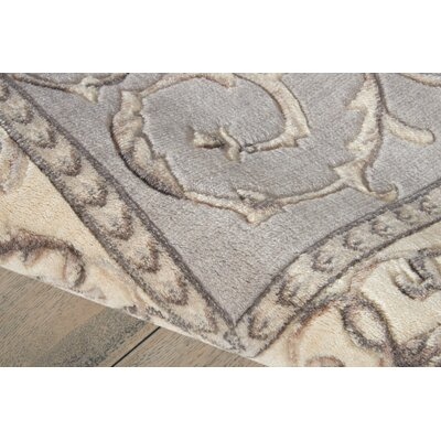 Roscoe Silver Area Rug Rug Size: Rectangle 53 x 75