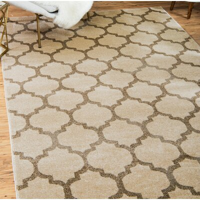 Moore Beige & Tan Area Rug Rug Size: Rectangle 7 x 10