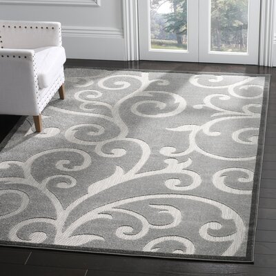 Bryan Gray Indoor/Outdoor Area Rug Rug Size: Rectangle 4 x 6