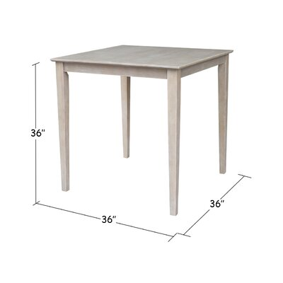 Geneseo Counter Height Pub Table Color: Weathered Gray, Tabletop Size: 36