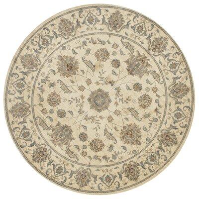 Jansson Oriental Bone Cotton Area Rug Rug Size: Round 710