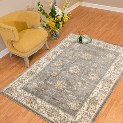 Jansson Oriental Blue/Gray Area Rug Rug Size: Rectangle 11 x 3