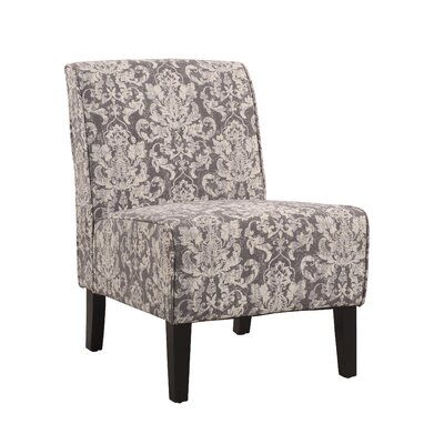 Wragby Slipper Chair Upholstery: Gray Damask