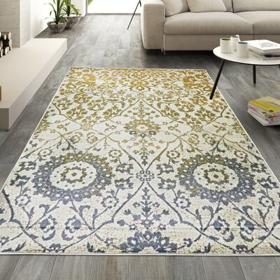 Kagan Off White Area Rug Rug Size: Rectangle 8 x 10