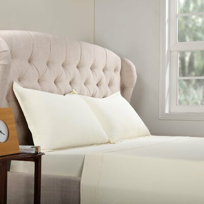 Geoffrey 100% Cotton Jersey Bed Sheet Set Color: Ivory, Size: King