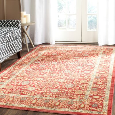 Regis Red Area Rug Rug Size: Rectangle 8 x 10