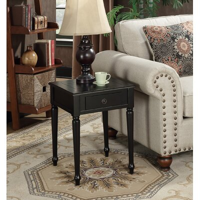 Widmer End Table Color: Black