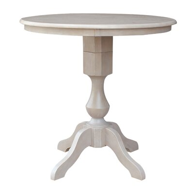 Jane Street Counter Height Round Pub Table Size: 34.9 H x 36 W x 36 D, Color: Weathered Gray